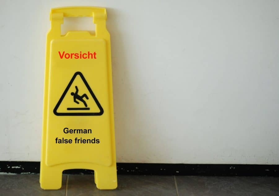 Common German false friends